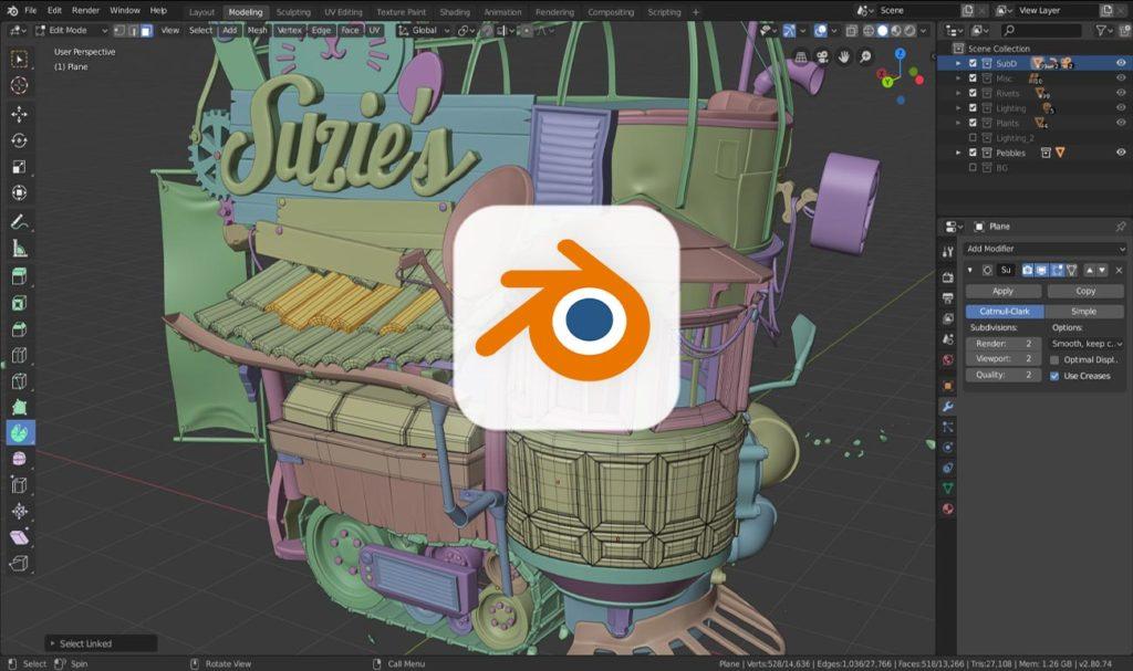 Blender - darmowe programy graficzne